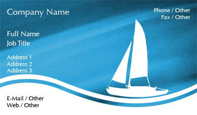 Sail Boat Silhouette Business Card Template